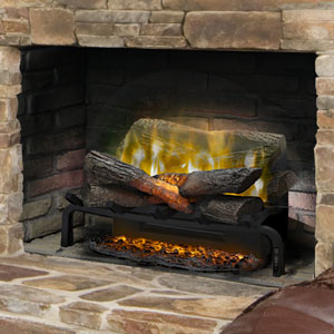 Dimplex 20-In Revillusion Electric Fireplace Insert/Log Set with 20-In Ashmat - RLG20 & REM-KIT