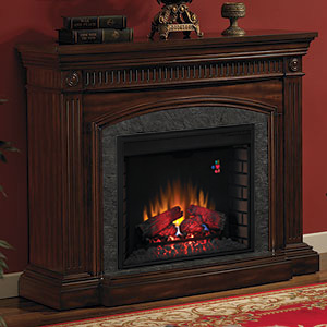 "Saranac 28"" Electric Fireplace Mantel in Roasted Cherry - 28WM1127-C256"
