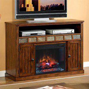 Sedona Electric Fireplace Media Cabinet in Carmel Oak - 23MM0925-O125