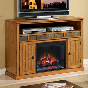 "Sedona 23"" Electric Fireplace Entertainment Center in Rustic Oak - 23MM0925-O124"