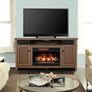 Simmons Electric Fireplace Entertainment Center in Driftwood