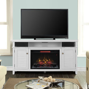 Simmons Infrared Electric Fireplace Entertainment Center in White - 26MMS9941-NT05