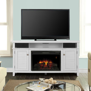 Simmons Electric Fireplace Entertainment Center in White - 26MMS9941-NT05