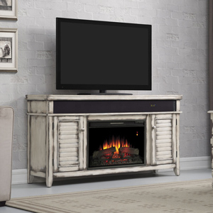 Simmons Electric Fireplace Entertainment Center in Country White - 26MMS8529-T478