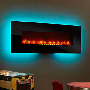 Flat Panel Wall Mounted Electric Fireplace Reviews Heater
