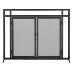 Single-Panel-Fireplace-Screen-with-Doors-Black-Mission-Style-61235-145.jpg