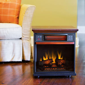 Spencer 20-Inch 1,000 Sq Ft Cherry Portable Fireplace Infrared Heater - 20IF100GRA-C202