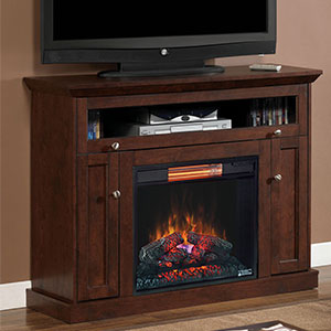 Windsor Wall or Corner Infrared Electric Fireplace Media Cabinet in Antique Cherry - 23DE9047-PC81
