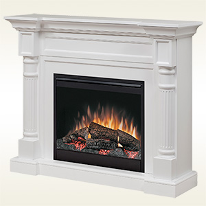 Winston Electric Fireplace Mantel Package in White - DFP26-1109W