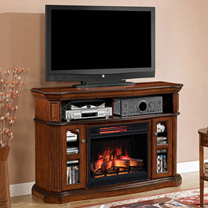 Aberdeen Infrared Electric Fireplace Media Console in Cocoa Cherry - 23MM1297-C259