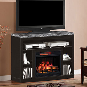 Adams Infrared Electric Fireplace Media Console  in Coffee Black  - 23MM1824-X445
