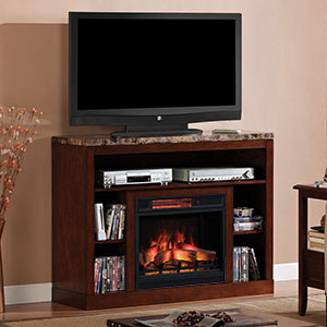 Adams Infrared Electric Fireplace Media Console in Empire Cherry - 23MM1824-C244