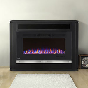 Alanis Electric Fireplace Media Console in Black - NEFP42-1815B