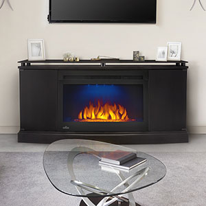 Anya Electric Fireplace Media Console in Black - NEFP27-3116B