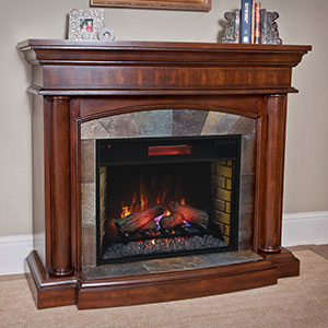 Aspen Infrared Electric Fireplace Mantel Package in Meridian Cherry - 28WM1751-C248