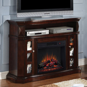Bellemeade Electric Fireplace Media Console in Espresso -23MM774-E451