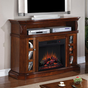 Bellemeade Electric Fireplace Media Console in Burnished Walnut -23MM774-W502