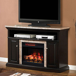 Brighton Electric Fireplace Media Console in Coffee Black - 23MM1424-X445