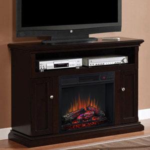 Cannes Electric Fireplace Media Cabinet in Espresso - 23MM378-E451