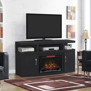 Cantilever Infrared Electric Fireplace Media Cabinet in Embossed Oak - 26MM5508-NB04