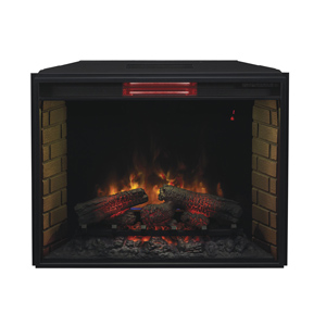 ClassicFlame 33-Inch Fixed Glass Spectrafire Plus Infrared Electric Fireplace Insert - 33II310GRA