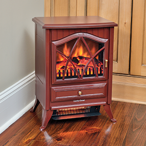 Comfort Smart 600 Sq Ft Cranberry Infrared Fireplace Stove - CS-18IR-CRN