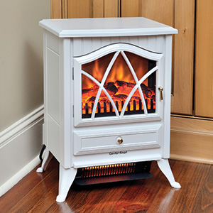 Comfort Smart 600 Sq Ft White Infrared Fireplace Stove - CS-18IR-WHT