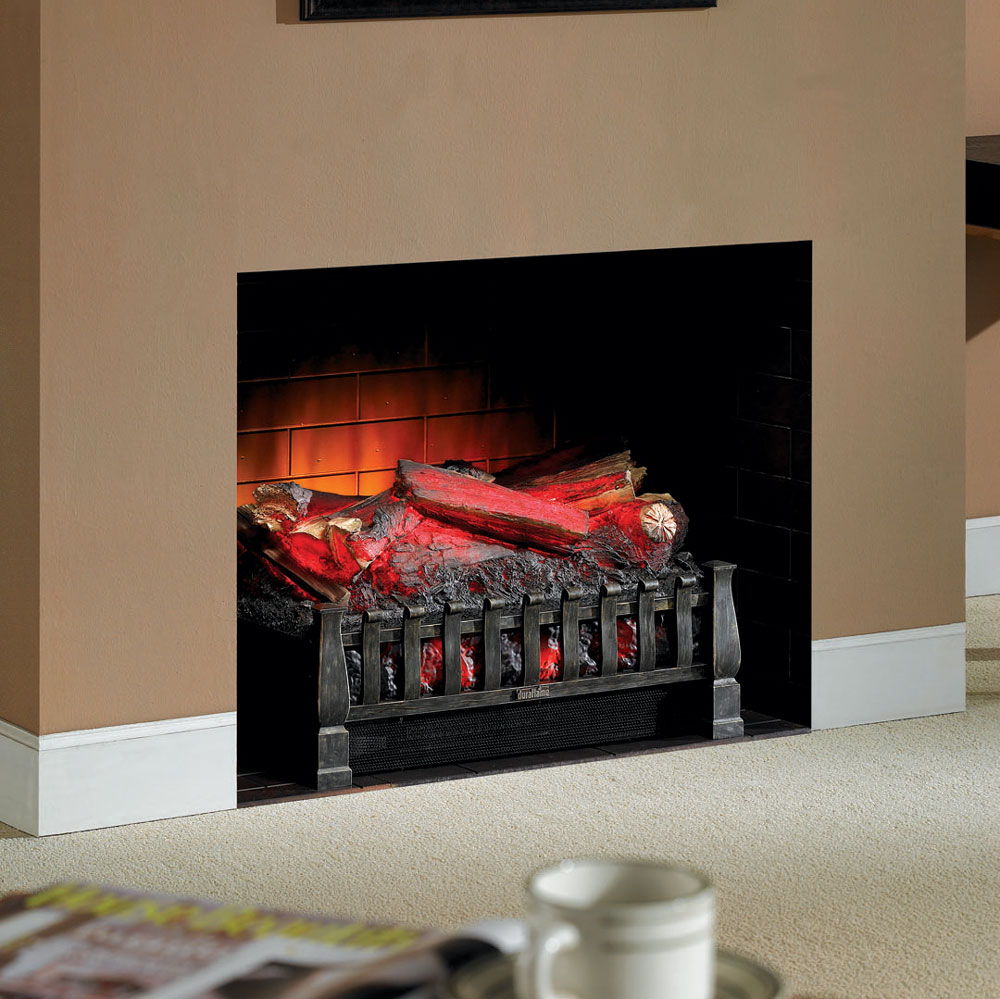 with btu duraflame log electric w in heater pd for fireplace remote shop black logs and