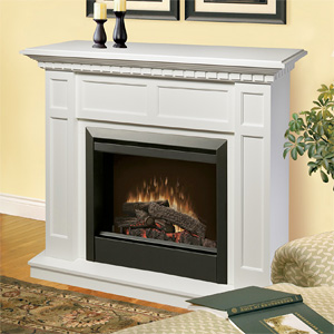 Caprice Electric Fireplace Mantel Package in White - DFP4743W