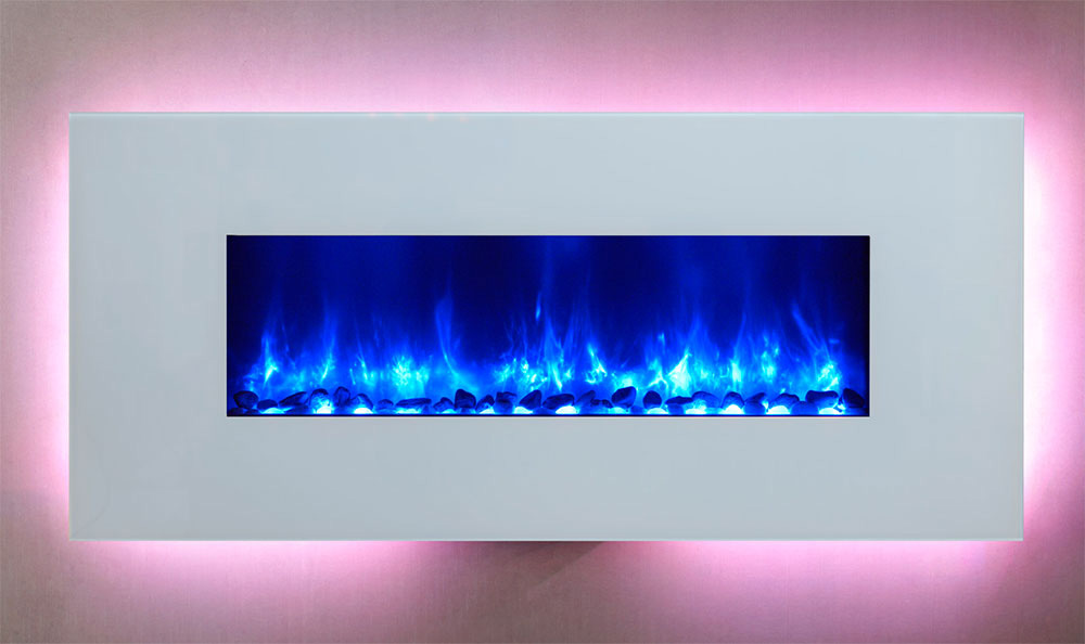 for fireplace ed designs wall electric led