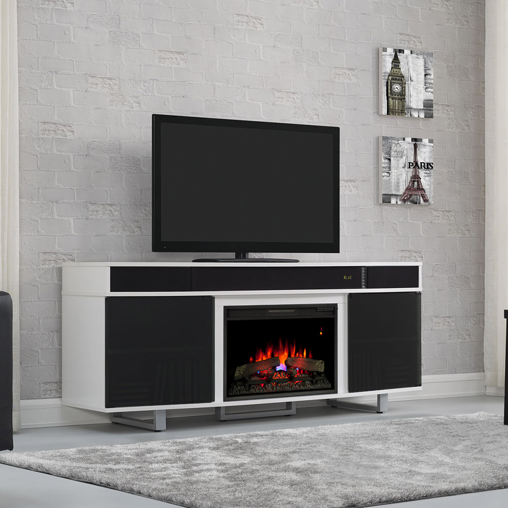 tv center black edison entertainment stands place walker p furniture fire company highboy with fireplace