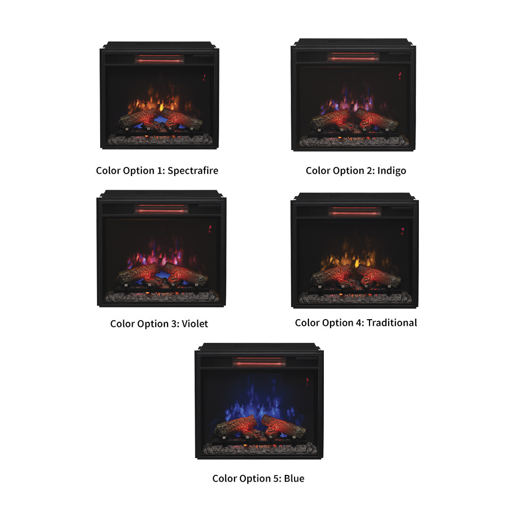 insert black pd lowes classicflame at shop electric in com fireplace