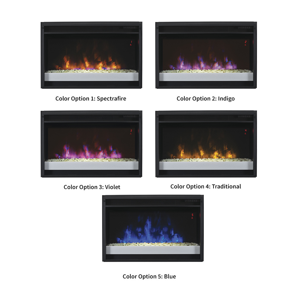 classicflame in spectrafire plus contemporary electric  - classicflame in spectrafire plus contemporary electric fireplace insert efgpg