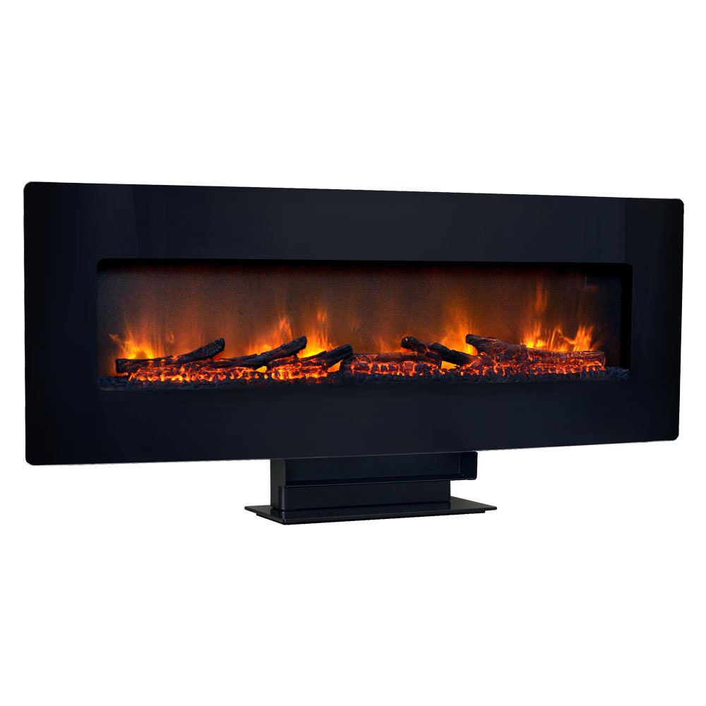 wall mount electric fireplaces  linear hanging  mounted designs - classicflame in curved black wall mount electric fireplace  hfcgt