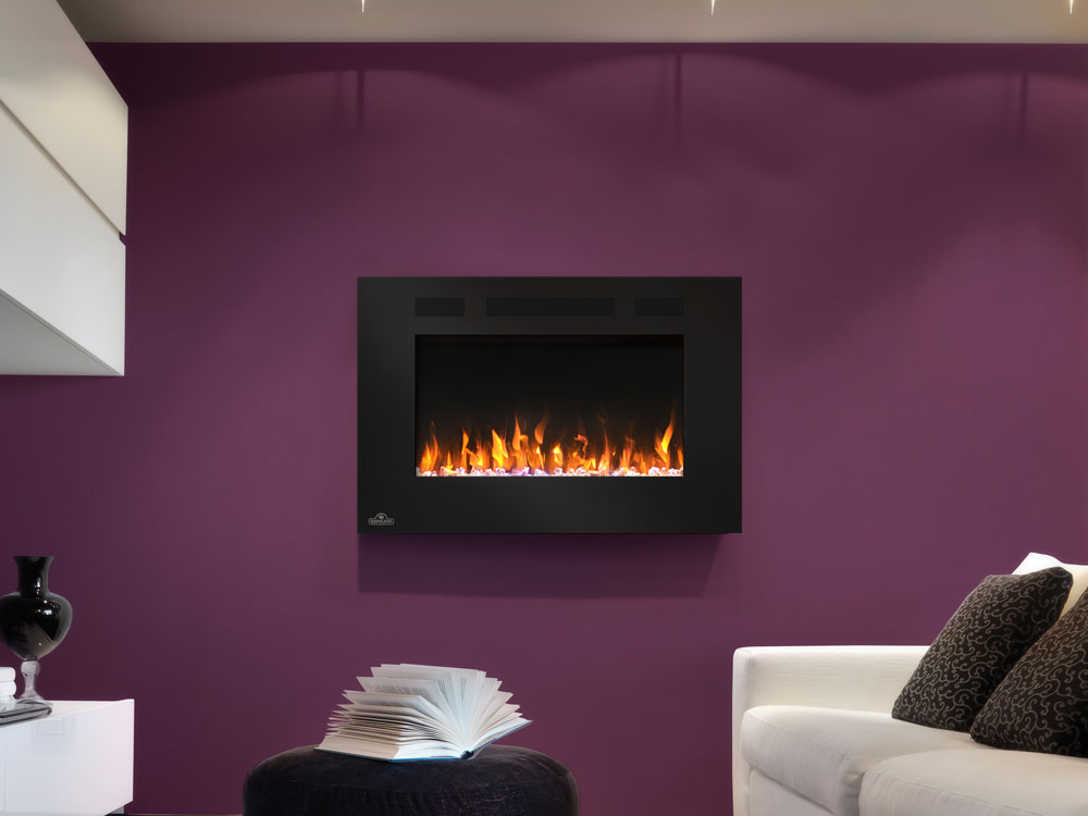 Fireplace Design fireplace wall mount : Napoleon 32-In Allure Wall Mount Electric Fireplace- NEFL32FH
