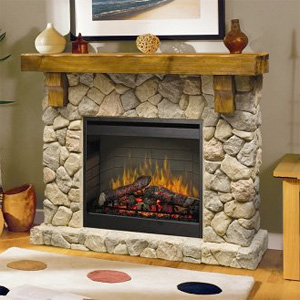 dimplex fieldstone rustic electric fireplace package ebay