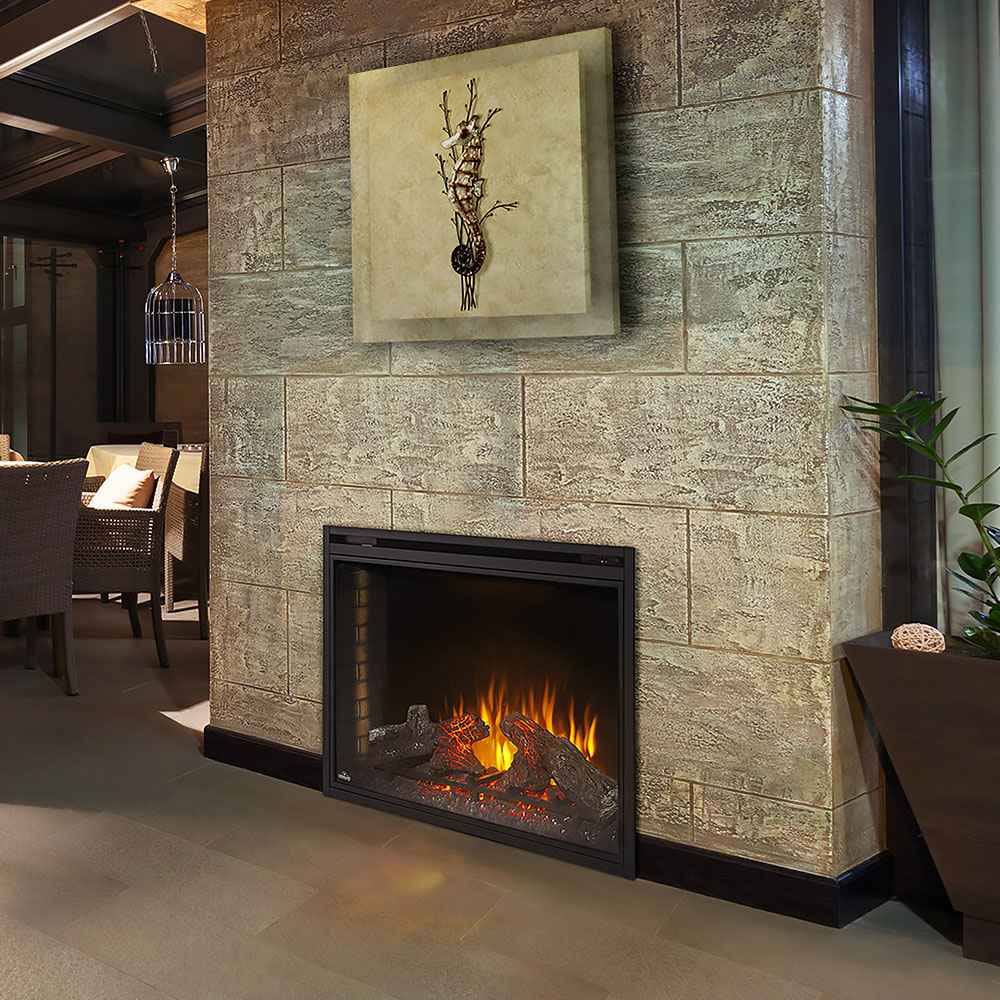 napoleon 40 in built in electric fireplace bef40h napoleon v
