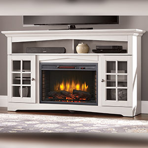 1c3a1ed320b Huntley Electric Fireplace TV Stand in White - 370-196-204