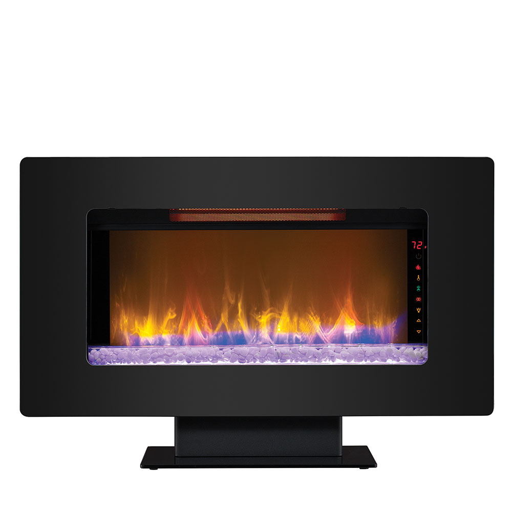 entertainment infrared youtube watch electric fireplace chimney free center walker