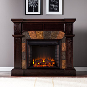 Cartwright Wall or Corner Electric Fireplace Mantel Package in Espresso - FE9287