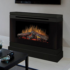 Slater Electric Fireplace Mantel Package in Black - DCF44B