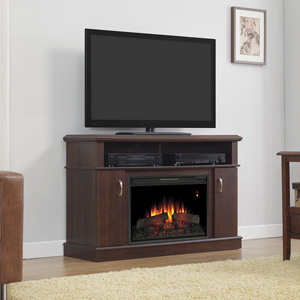 Dwell Electric Fireplace Entertainment Center in Midnight Cherry - 26MM5516-PC72