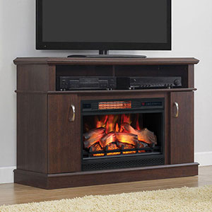 Dwell Infrared Electric Fireplace Entertainment Center in Midnight Cherry - 26MM5516-PC72