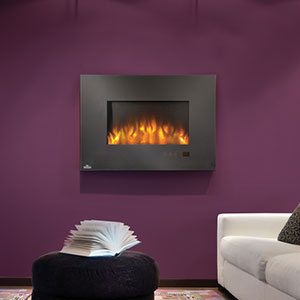 Napoleon 32-Inch Slimline Black Wall Mount Electric Fireplace - EFL32H