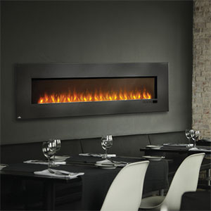 Napoleon 72-Inch Slimline Black Wall Mount Electric Fireplace - EFL72H