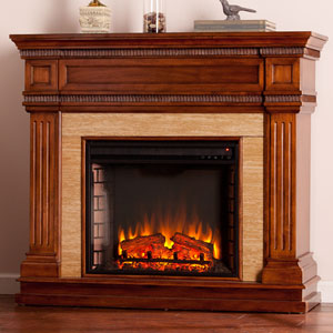 Faircrest Electric Fireplace Mantel Package in Oak Saddle - FE9617