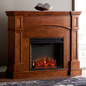 Lantana Wall/Corner Electric Fireplace Mantel Package in Oak Saddle - FE9625