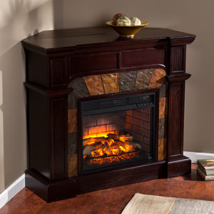 Cartwright Wall or Corner Infrared Electric Fireplace Mantel Package in Espresso - FI9287