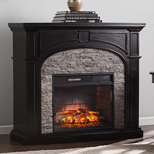 Tanaya Infrared Electric Fireplace Mantel Package in Ebony - FI9620