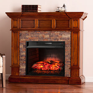 Merrimack Infrared Wall/Corner Electric Fireplace Mantel Package in Buckeye Oak - FI9637